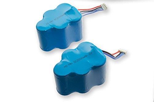 vhbw 2 x NiMH batteria 2000mAh (6V) per robot aspirapolvere Ecovacs Deebot D77, D79, D83, D63s, D62s...