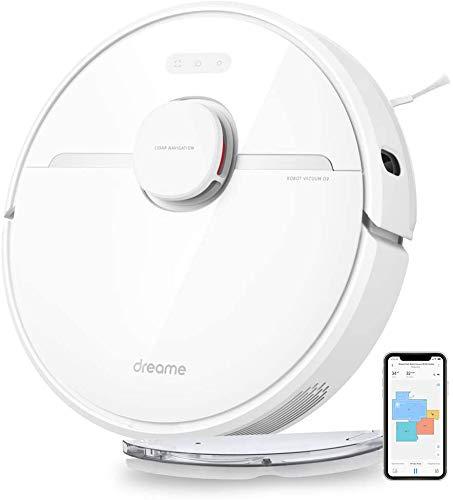 Dreame D9 Robot Aspirapolvere, Aspirazione 3000 Pa, 2 in 1, Alexa, Wi-Fi, Lavapavimenti, Autonomia...