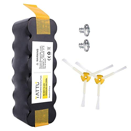 TATTU Batteria di ricambio per iRobot Roomba 4500mAh 14,4V Batteria NiMH per aspirapolvere iRobot...
