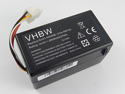 Batteria vhbw Li-Ion 2600mAh (14.4V) per aspirapolvere Samsung Navibot SR8940, SR8950, SR8980,...
