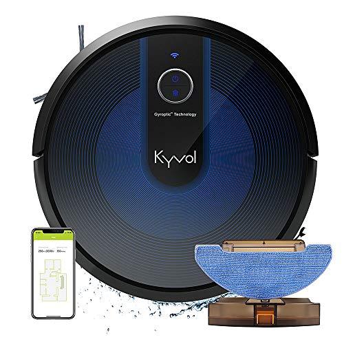 KYVOL Robot Aspirapolvere Lavapavimenti Senza Filo, Robottino Aspirapolvere Robot Supporta Alexa,...